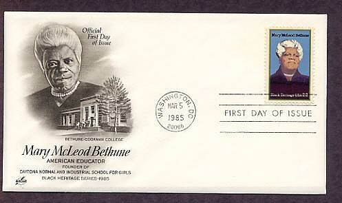 Black Heritage, Honoring American Educator Mary McLeod Bethune, First Issue USA