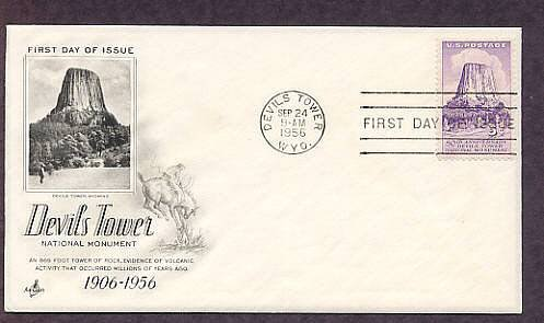 Devils Tower National Monument, Wyoming, First Issue USA