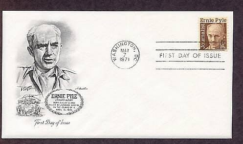 Honoring World War II Journalist Ernie Pyle, First issue USA