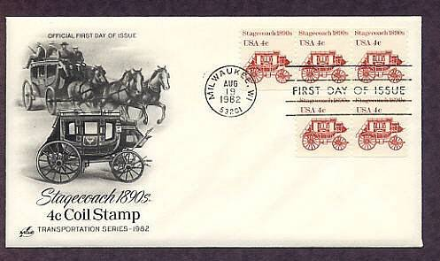 Western Stagecoach, First Issue USA USPS