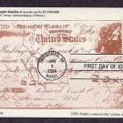 The Check That Bought Alaska, Statehood, Caribou, Fairbanks First Issue USA FDC