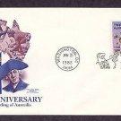 USA Celebrates Australia Bicentennial, Koala, Bald Eagle, First Issue USA
