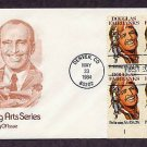Honoring Douglas Fairbanks, Plate Block, First Issue FDC USA
