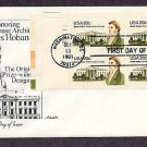 Honoring White House Architect James Hoban, Plate Block FDC First Issue USA