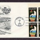 Soil and Water Conservation, Plate Block, First Issue FDC USA