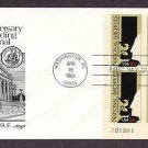 50th Anniversary of the Founding of the National Archives, Plate Block First Issue FDC USA
