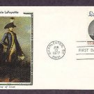 Bicentennial, Honoring  American Revolutionary Army  General Marquis de Lafayette, First Issue USA