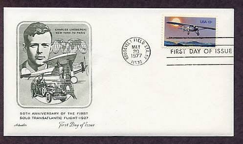 Charles Lindbergh, Transatlantic Flight Aviation, First Issue USA
