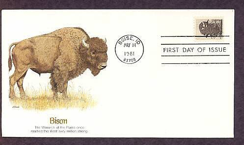 American Bison Buffalo Biose, Idaho, 1981 First Issue USA