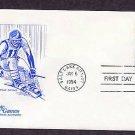 Winter Olympics 1994, Alpine Skiing, Salt Lake City, Utah First Issue USA