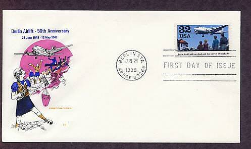 50th Anniversary Berlin Airlift, Germany First Issue USA