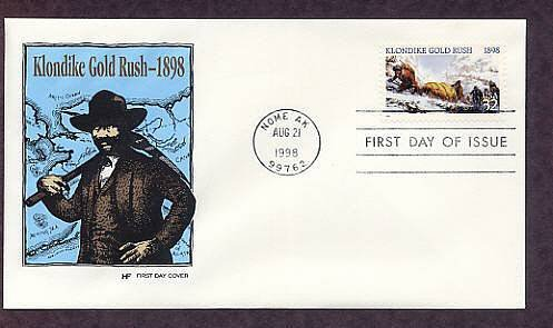100th Anniversary Klondike Gold Rush Skagway, Alaska, HF First Issue USA