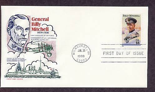 Honoring American General Billy Mitchell, Father of the U.S. Air Force First issue USA