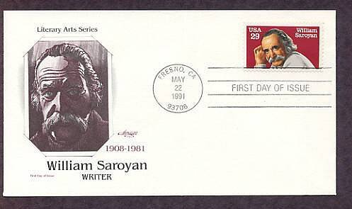 Postage Stamp Honoring  Writer William Saroyan, First Issue USA