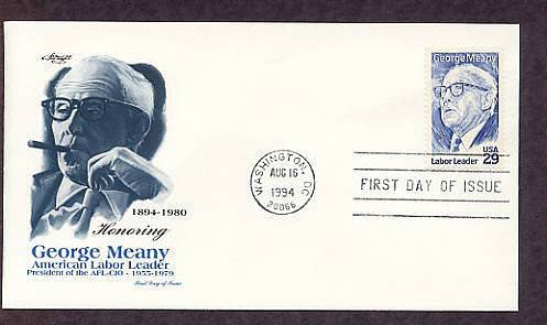 Honoring American Labor Leader George Meany, AFL-CIO, First Issue FDC