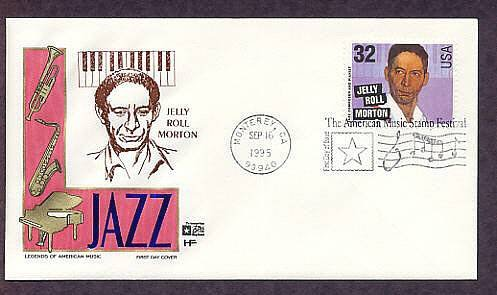 Honoring Jazz Composer and Pianist Jelly Roll Morton, First Issue FDC