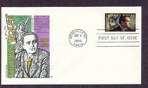 Honoring American Novelist Thomas Wolfe, First Issue USA