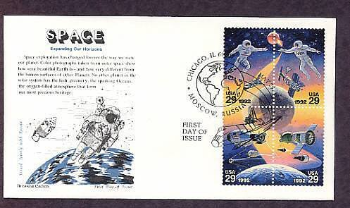 Space Astronaut Cosmonaut NASA Shuttle USA Russia First Issue FDC