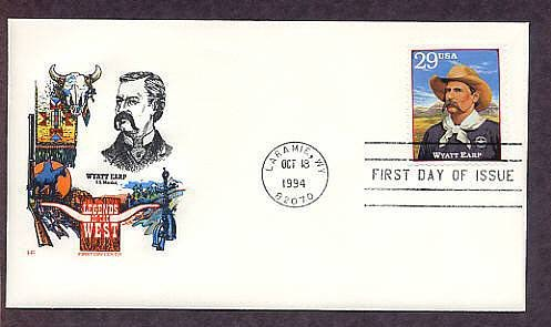 Wyatt Earp Legends of the West Wyoming First Issue USA
