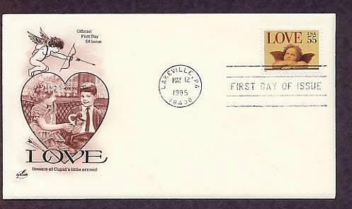 1995 USPS Love Stamp Raphael Cherub, Cupid, First Issue USA
