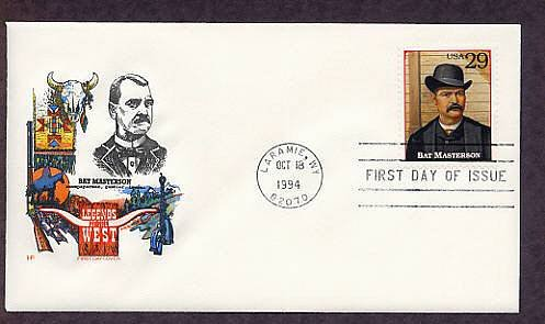 Bat Masterson, Legends of the West Laramie, Wyoming First Issue USA