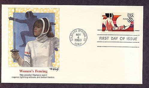 Summer Olympics 1984, Women's Fencing, First Issue USA