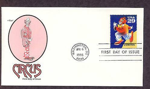 200th Anniversary of the First Circus Performance in America, Circus Clown First Issue USA