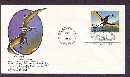 Prehistoric Animals, Dinosaurs, Pteranodon, First Issue USA