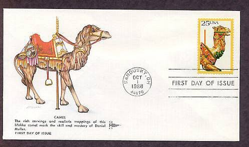 Carved Carousel Animals Camel First Issue USA