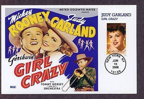 Honoring Hollywood Legend Judy Garland, Gershwin's Girl Crazy, Mickey Rooney First Issue USA
