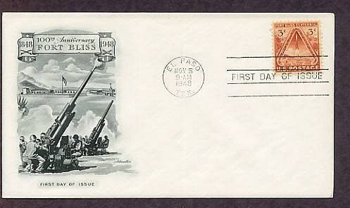 Fort Bliss Texas Army Artillery V2 Rocket 1948 First Issue FDC USA