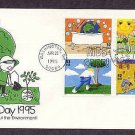 Winning Stamps Designed and Drawn by Children to Commemorate the 25th Anniversary of Earth Day 4/20