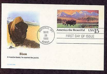 American Bison, Buffalo, Buffalo, Wyoming, First Issue USA
