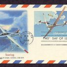 Airmail Postal Card Recognizing Soaring, Sailplanes, First Issue USA