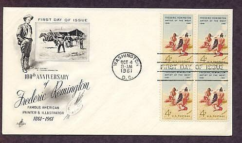 Frederic Remington, 100th Anniversary, Smoke Signal First Issue FDC USA