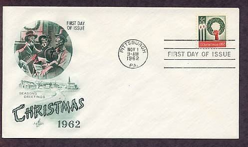 First United States Christmas Postage Stamp, 1962 FDC USA