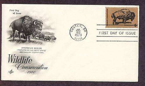 American Bison, Buffalo, The Monarch of the Plains, First Issue USA