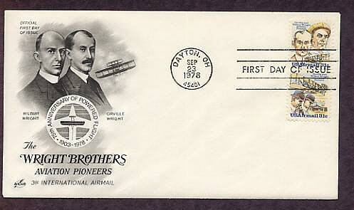 Aviation Pioneers Wilbur Wright and Orville Wright, First Issue USA