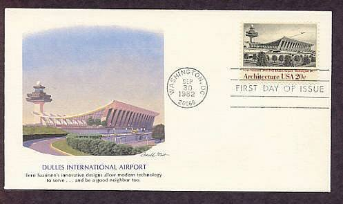 Architecture, Dulles International Airport, Eero Saarinen, First Issue USA