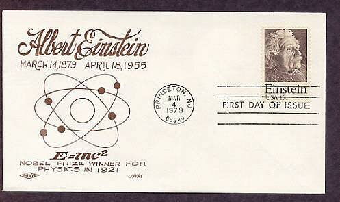 Albert Einstein, Nobel Prize Winner, Science, First Issue FDC Nova USA