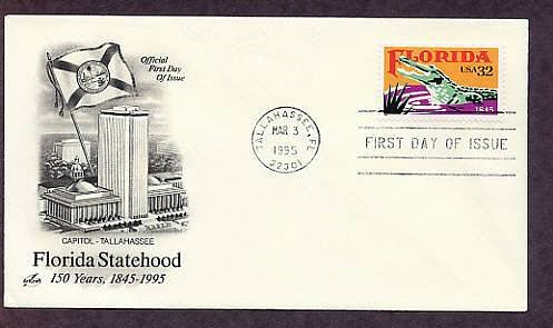 150th Anniversary Florida Statehood, Alligator, First Issue USA