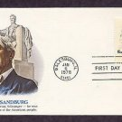 Honoring Carl Sandburg, American Poet, First Issue USA