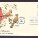 North Carolina Birds and Flowers, Cardinal, Flowering Dogwood, First Issue USA