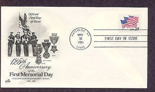 Anniversary of the First Memorial Day, Flag, Medal of Honor, First Issue USA