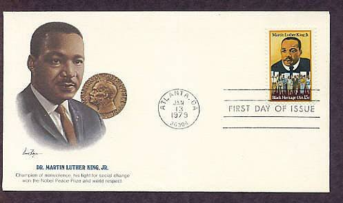 Dr. Martin Luther King Jr, Civil Rights, Black History, African American, First Issue Fleet. FDC USA