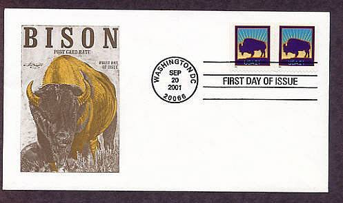 North American Bison, Buffalo, First Issue USA