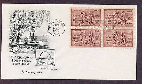 150th Anniversary of the  Louisiana Purchase, 1953 First Issue USA