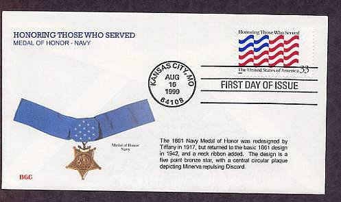 Honoring Those Who Served, Medal of Honor, Navy, First Issue USA