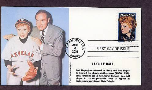 Honoring Lucille Ball, I Love Lucy, Television and Movie Star, Bob Hope, First Issue FDC USA