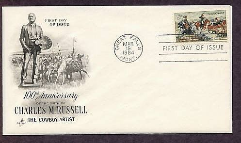 Charles M. Russell, Cowboy, Indian Artist, Horses, AC First Issue USA